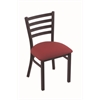 "Holland Bar Stool Co. 400 Jackie 18"" Chair with Black Wrinkle Finish, Allante Wine Seat"