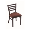 "Holland Bar Stool Co. 400 Jackie 18"" Chair with Black Wrinkle Finish, Axis Paprika Seat"