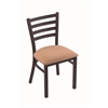 "Holland Bar Stool Co. 400 Jackie 18"" Chair with Black Wrinkle Finish, Axis Summer Seat"
