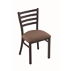 "Holland Bar Stool Co. 400 Jackie 18"" Chair with Black Wrinkle Finish, Axis Willow Seat"