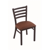 "Holland Bar Stool Co. 400 Jackie 18"" Chair with Black Wrinkle Finish, Rein Adobe Seat"