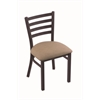 "Holland Bar Stool Co. 400 Jackie 18"" Chair with Black Wrinkle Finish, Rein Thatch Seat"