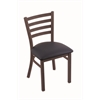 "Holland Bar Stool Co. 400 Jackie 18"" Chair with Bronze Finish, Allante Dark Blue Seat"