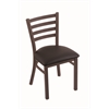 "400 Jackie 18"" Chair with Bronze Finish, Allante Espresso Seat"
