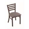 "400 Jackie 18"" Chair with Bronze Finish, Allante Medium Grey Seat"