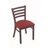 "400 Jackie 18"" Chair with Bronze Finish, Allante Wine Seat"