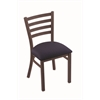 "Holland Bar Stool Co. 400 Jackie 18"" Chair with Bronze Finish, Axis Denim Seat"