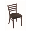 "400 Jackie 18"" Chair with Bronze Finish, Rein Coffee Seat"
