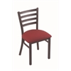 "Holland Bar Stool Co. 400 Jackie 18"" Chair with Pewter Finish, Allante Wine Seat"