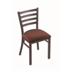 "Holland Bar Stool Co. 400 Jackie 18"" Chair with Pewter Finish, Axis Paprika Seat"