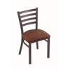 "Holland Bar Stool Co. 400 Jackie 18"" Chair with Pewter Finish, Rein Adobe Seat"