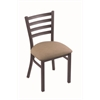 "Holland Bar Stool Co. 400 Jackie 18"" Chair with Pewter Finish, Rein Thatch Seat"