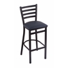 "Holland Bar Stool Co. 400 Jackie 25"" Stool with Black Wrinkle Finish, Allante Dark Blue Seat"