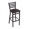 "400 Jackie 30"" Stool with Black Wrinkle Finish, Allante Espresso Seat"