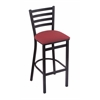 "Holland Bar Stool Co. 400 Jackie 25"" Stool with Black Wrinkle Finish, Allante Wine Seat"