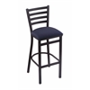 "Holland Bar Stool Co. 400 Jackie 25"" Stool with Black Wrinkle Finish, Axis Denim Seat"
