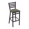 "400 Jackie 30"" Stool with Black Wrinkle Finish, Axis Grove Seat"