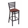 "Holland Bar Stool Co. 400 Jackie 25"" Stool with Black Wrinkle Finish, Axis Paprika Seat"