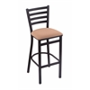 "Holland Bar Stool Co. 400 Jackie 30"" Stool with Black Wrinkle Finish, Axis Summer Seat"