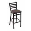 "Holland Bar Stool Co. 400 Jackie 25"" Stool with Black Wrinkle Finish, Axis Truffle Seat"