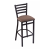 "Holland Bar Stool Co. 400 Jackie 25"" Stool with Black Wrinkle Finish, Axis Willow Seat"