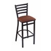"Holland Bar Stool Co. 400 Jackie 25"" Stool with Black Wrinkle Finish, Rein Adobe Seat"