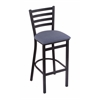 "Holland Bar Stool Co. 400 Jackie 25"" Stool with Black Wrinkle Finish, Rein Bay Seat"