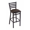 "400 Jackie 25"" Stool with Black Wrinkle Finish, Rein Coffee Seat"