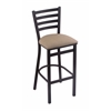 "Holland Bar Stool Co. 400 Jackie 25"" Stool with Black Wrinkle Finish, Rein Thatch Seat"