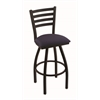 "410 Jackie 30"" Bar Stool with Black Wrinkle Finish, Axis Denim Seat, and 360 swivel"