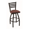"410 Jackie 30"" Bar Stool with Black Wrinkle Finish, Axis Paprika Seat, and 360 swivel"