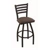 "410 Jackie 30"" Bar Stool with Black Wrinkle Finish, Axis Truffle Seat, and 360 swivel"