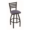 "410 Jackie 30"" Bar Stool with Black Wrinkle Finish, Rein Bay Seat, and 360 swivel"