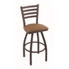 "410 Jackie 36"" Bar Stool with Bronze Finish, Allante Beechwood Seat, and 360 swivel"