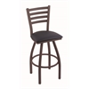 "410 Jackie 30"" Bar Stool with Bronze Finish, Allante Dark Blue Seat, and 360 swivel"
