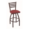 "410 Jackie 25"" Counter Stool with Bronze Finish, Allante Wine Seat, and 360 swivel"