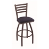 "410 Jackie 30"" Bar Stool with Bronze Finish, Axis Denim Seat, and 360 swivel"