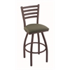 "410 Jackie 36"" Bar Stool with Bronze Finish, Axis Grove Seat, and 360 swivel"