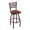 "Holland Bar Stool Co. 410 Jackie 25"" Counter Stool with Bronze Finish, Axis Paprika Seat, and 360 swivel"