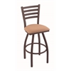 "Holland Bar Stool Co. 410 Jackie 30"" Bar Stool with Bronze Finish, Axis Summer Seat, and 360 swivel"