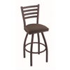 "410 Jackie 25"" Counter Stool with Bronze Finish, Axis Truffle Seat, and 360 swivel"