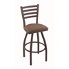 "410 Jackie 36"" Bar Stool with Bronze Finish, Axis Willow Seat, and 360 swivel"