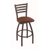 "410 Jackie 36"" Bar Stool with Bronze Finish, Rein Adobe Seat, and 360 swivel"