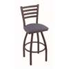 "410 Jackie 30"" Bar Stool with Bronze Finish, Rein Bay Seat, and 360 swivel"
