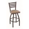 "410 Jackie 30"" Bar Stool with Bronze Finish, Rein Thatch Seat, and 360 swivel"