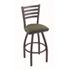 "410 Jackie 30"" Bar Stool with Pewter Finish, Axis Grove Seat, and 360 swivel"