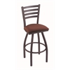 "410 Jackie 30"" Bar Stool with Pewter Finish, Axis Paprika Seat, and 360 swivel"