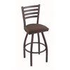 "410 Jackie 30"" Bar Stool with Pewter Finish, Axis Truffle Seat, and 360 swivel"