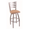 "410 Jackie 36"" Bar Stool with Stainless Finish, Axis Summer Seat, and 360 swivel"