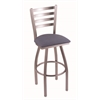 "410 Jackie 25"" Counter Stool with Stainless Finish, Rein Bay Seat, and 360 swivel"